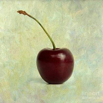 Cherry Photograph - Textured Cherry. by Bernard Jaubert