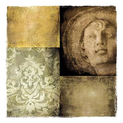 Digital Art - Textured Collage Square - Boy by Patricia Strand