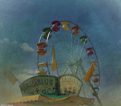 Photograph - Textured Ferris Wheel  by Debra Forand