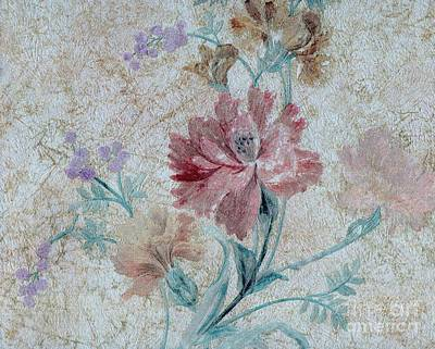Textured Florals No.1 Art Print