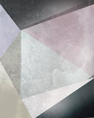 Roses Royalty-Free and Rights-Managed Images - Textured Geometric Triangles by Pati Photography