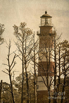 Photograph - Textured Light House by Dawn Gari