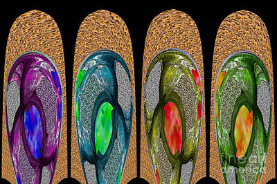Photograph - Textured Paddles - An Abstract by Nina Silver