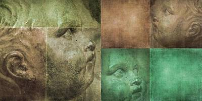 Digital Art - Textured Panel - Cherubs 1 by Patricia Strand
