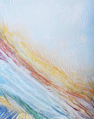 Mixed Media - Textured Rainbow by Angela Stout