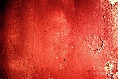 Textured Red Metal Grunge Background Art Print by Simon Bratt Photography LRPS