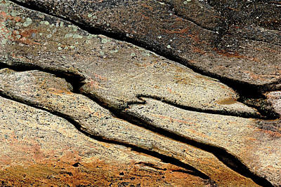 Photograph - Textured Rock by Debbie Oppermann