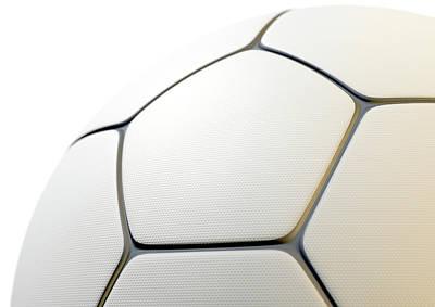 Textured Soccer Ball Closeup Art Print