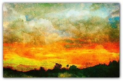 Textured Sunset Art Print