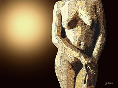 Females Torsos Photograph - Textured Torso by Joe Bonita