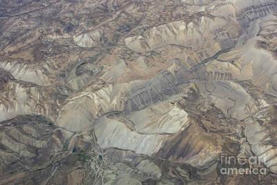 Textured Valleys Art Print by Tim Grams