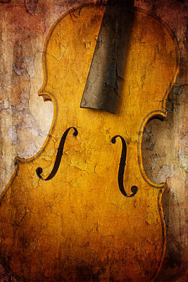 Fiddle Photograph - Textured Violin by Garry Gay
