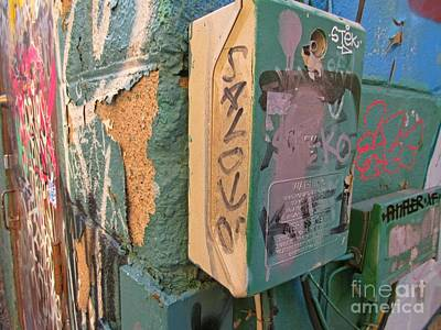 Streetscape Mixed Media - Textures And Colors Of Graffiti Alley by John Malone
