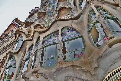 Barcelona Chair Photograph - Textures. Gaudi. Modern Style. by Andy Za