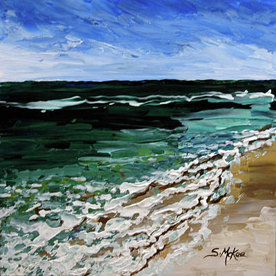 Painting - Textures Of The Tide by Suzanne McKee