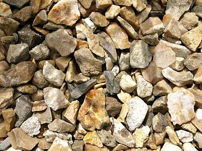 Photograph - Textures Series - Stone Chippings by Richard Brookes