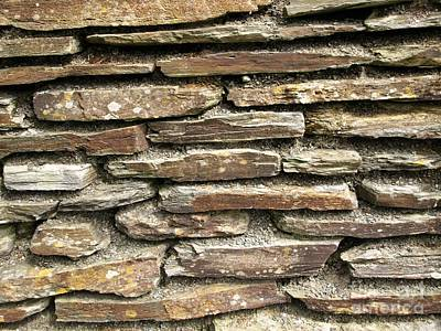 Photograph - Textures Series - Stone Wall by Richard Brookes