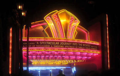 Photograph - Movie Ride Entrance by David Lee Thompson