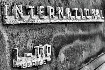Photograph - Th International L-110 Pickup In Black And White by JC Findley