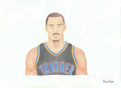 Drawing - Thabo Sefolosha by Toni Jaso