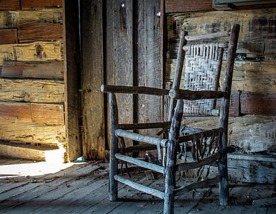 Photograph - Thacker Cabin Chair by Susie Weaver