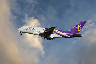 Airliners Photograph - Thai Airways Airbus A380-841 by Nichola Denny