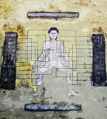 Mixed Media - Thai Ancient Art Mural  by Helissa Grundemann