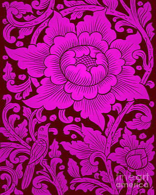 Royalty-Free and Rights-Managed Images - Thai Art Flower No5-1 by Bobbi Freelance
