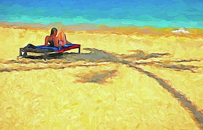 Photograph - Thai Beach Sunbather by Dennis Cox WorldViews