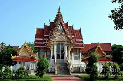 Photograph - Thai Buddhist Temple And Gardens Hat Yai Songkhla Thailand by Imran Ahmed