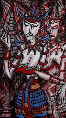 Thai Artist Artists Painting - Thai Dances  by Toadeng