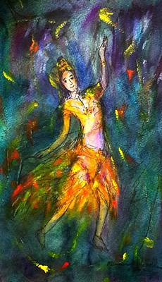 Painting - Thai Dancing by Wanvisa Klawklean