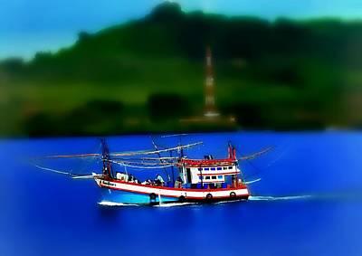 Photograph - Thai Fishing Trawler by Ian Gledhill