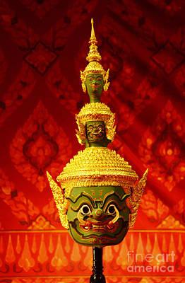 Thai Giant Khon Mask  Art Print by Nongnuch Leelaphasuk