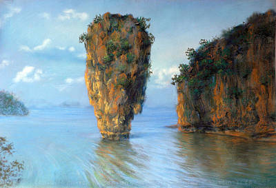 Thai Landscape Art Print