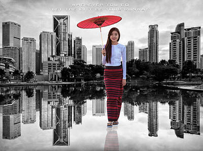 Photograph - Thai Let The City Be Your Runway by ISAW Gallery