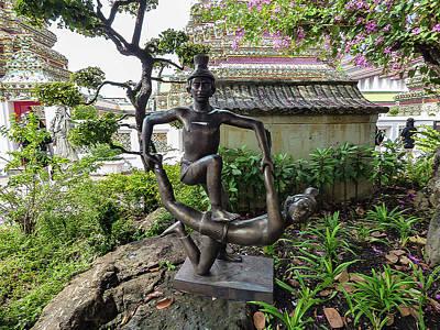 Digital Art - Thai Massage Statues At Wat Pho by Helissa Grundemann
