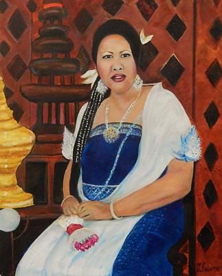 Bangkok Painting - Thai Mona Lisa by Marvin Pike