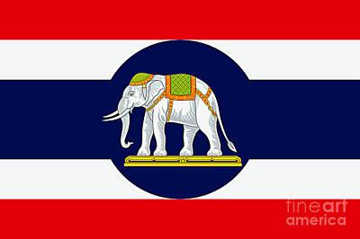 Digital Art - Thai Naval Ensign by Ian Gledhill