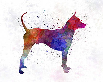 Thai Ridgeback Dog In Watercolor Art Print