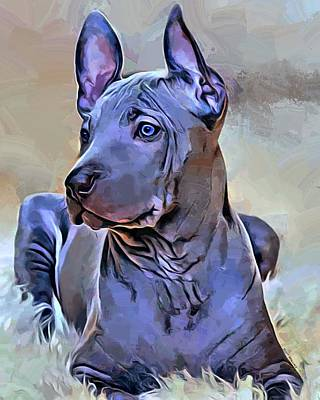 Ridgeback Digital Art - Thai Ridgeback Portrait by Scott Wallace