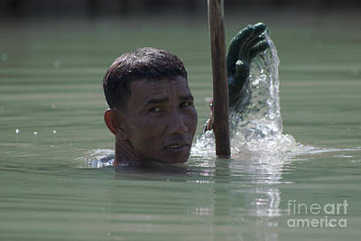 Photograph - Thai River Collector by Nola Lee Kelsey