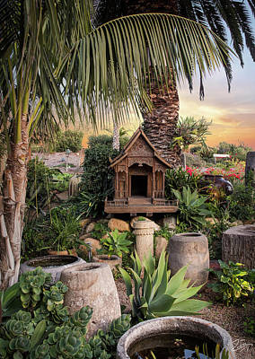 Photograph - Thai Spirit House by Endre Balogh