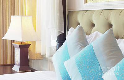 Thai Style Bedroom Art Print by Atiketta Sangasaeng
