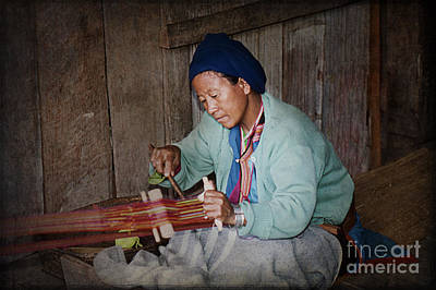 Photograph - Thai Weaving Tradition by Heiko Koehrer-Wagner
