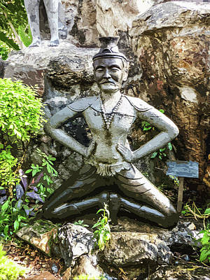 Digital Art - Thai Yoga Statue At Wat Pho by Helissa Grundemann