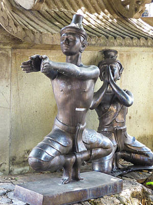 Photograph - Thai Yoga Statues At Famous Wat Pho Temple by Helissa Grundemann