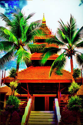 Mixed Media - Thailand Architecture by Joseph Hollingsworth