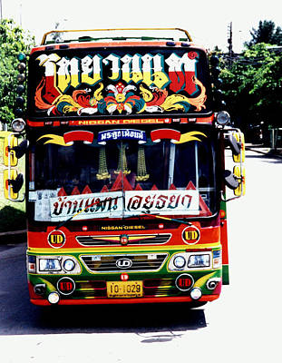 Photograph - Thailand By Bus by Dianne Levy