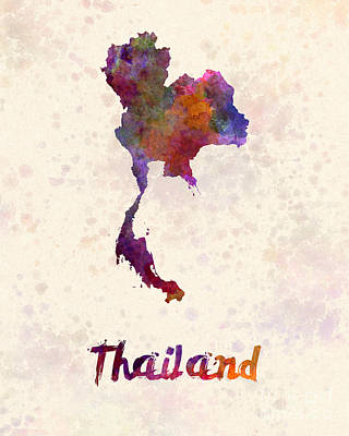 Thailand Painting - Thailand In Watercolor by Pablo Romero